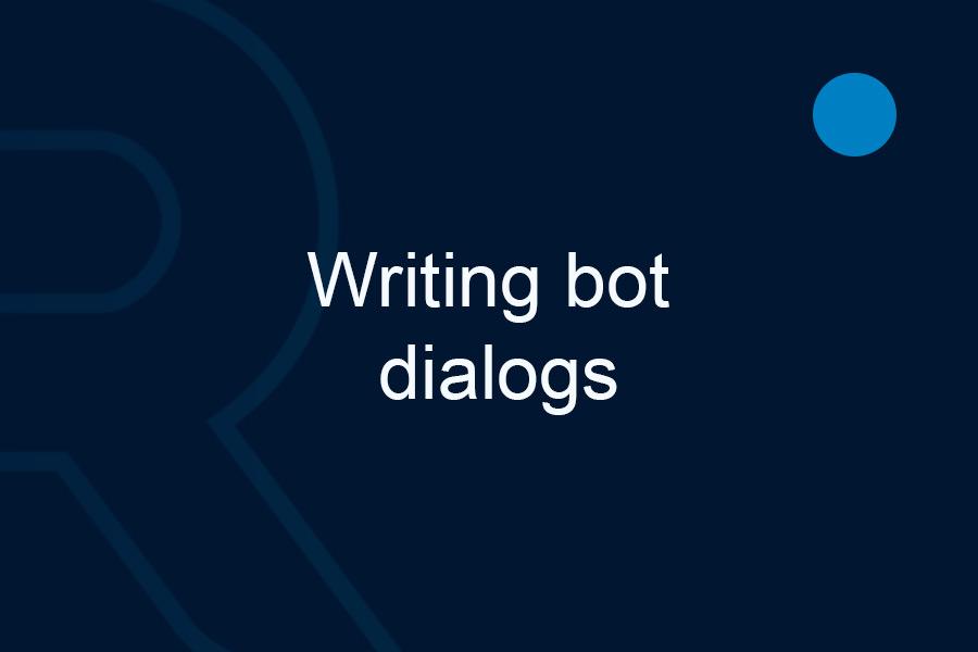 Writing-bot-dialogs