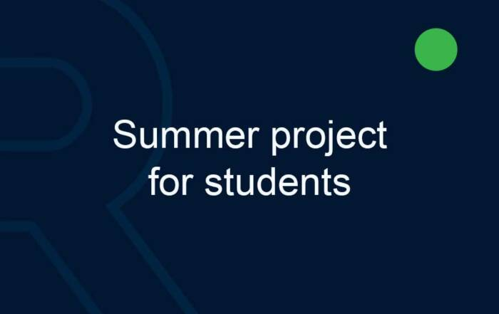 Summer project for students